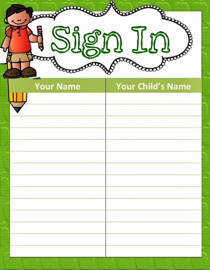 Parent Meeting Sign In Sheet Awesome Parents Sign In Sheet Madohkotupakka