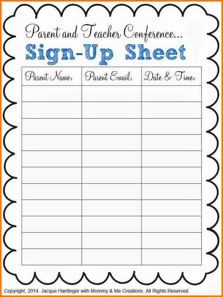 Parent Meeting Sign In Sheet Best Of Sign Up Sheet