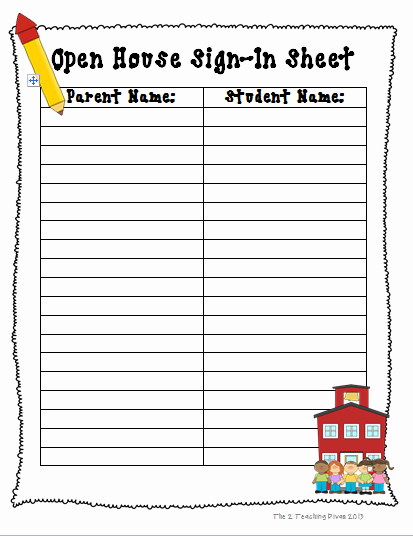 Parent Meeting Sign In Sheet Best Of the 2 Teaching Divas May 2013