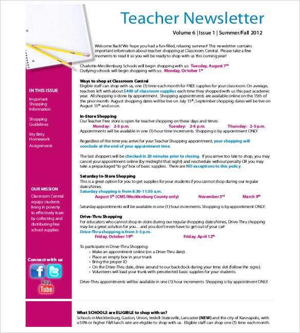 Parent Newsletter Template for Teachers Awesome Teacher Newsletter Template – 8 Psd Pdf formats Download
