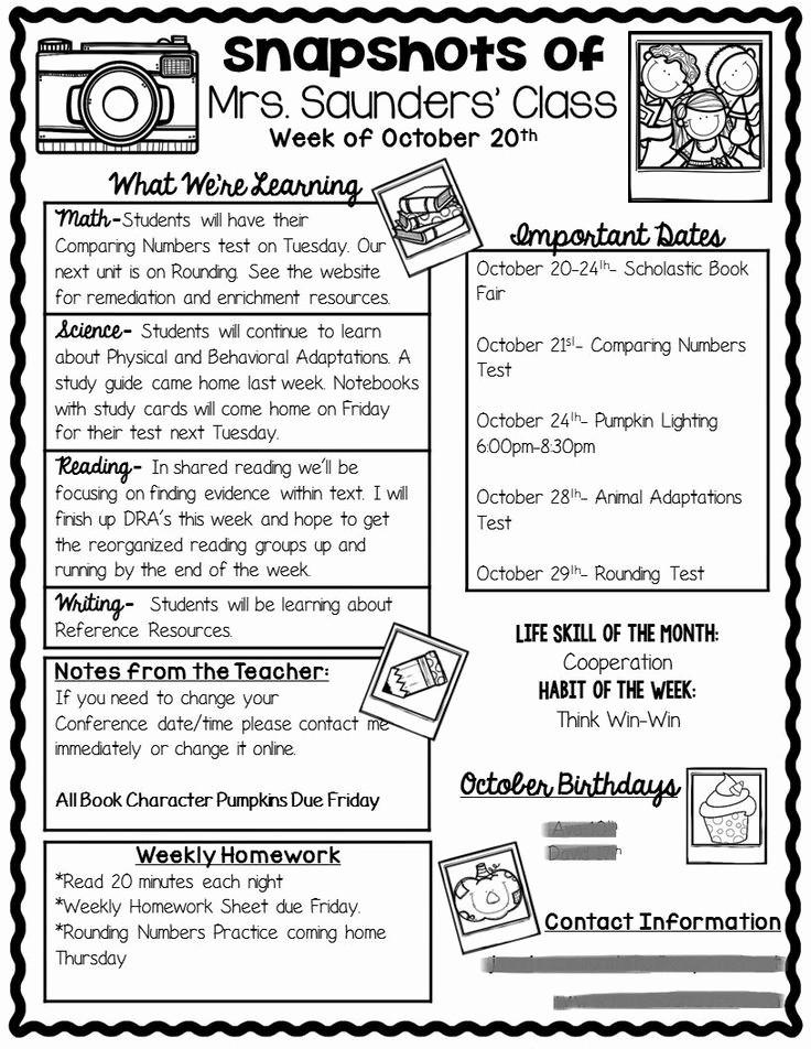 Parent Newsletter Template for Teachers Beautiful Best 25 Parent Munication forms Ideas On Pinterest