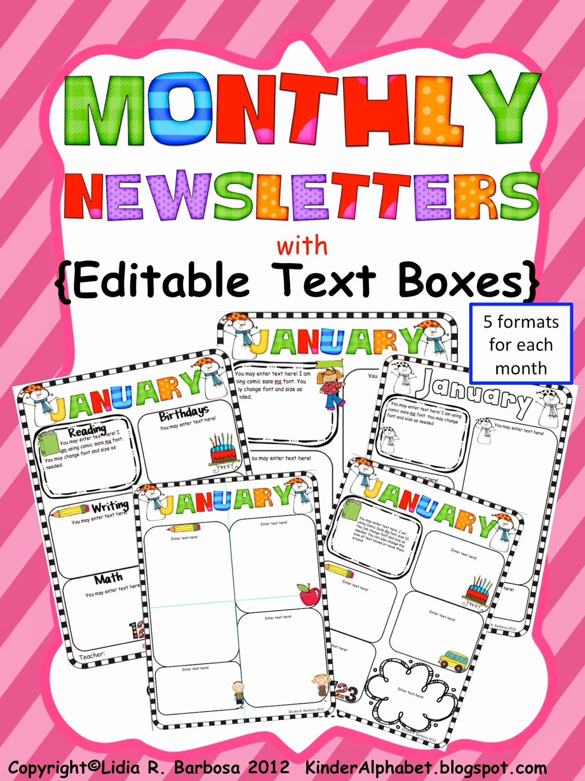 Parent Newsletter Template for Teachers Best Of Kinder Alphabet — Teacher Resources In English and Spanish