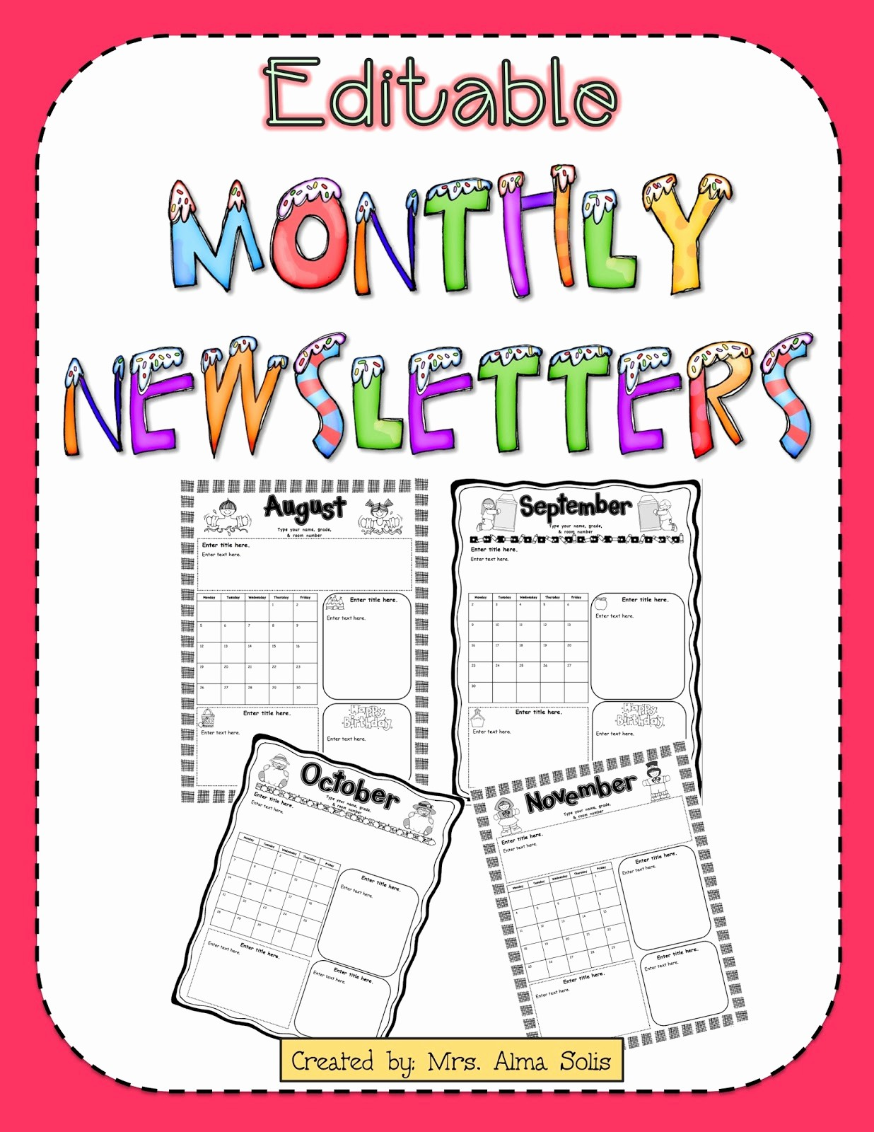 Parent Newsletter Template for Teachers Best Of Mrs solis S Teaching Treasures Monthly Newsletters
