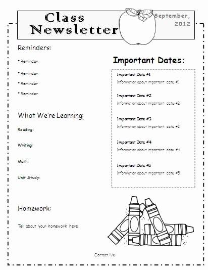 Parent Newsletter Template for Teachers Fresh Best 25 Menu Template Word Ideas On Pinterest