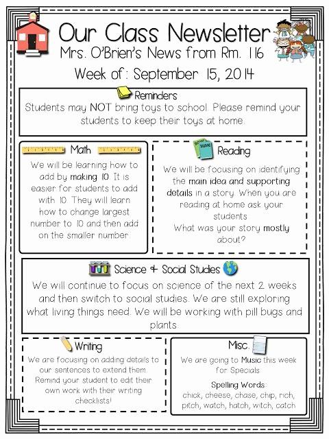 Parent Newsletter Template for Teachers Inspirational Best 20 Class Newsletter Template Ideas On Pinterest