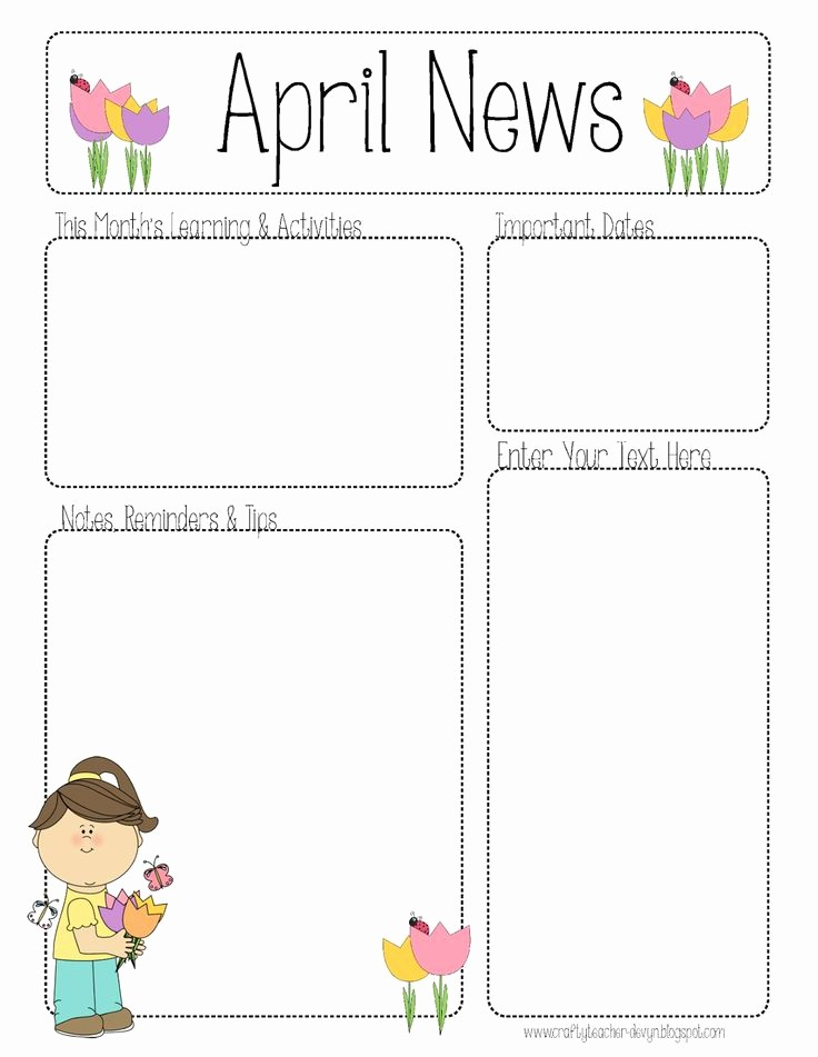 Parent Newsletter Template for Teachers Lovely 25 Best Ideas About Preschool Newsletter On Pinterest