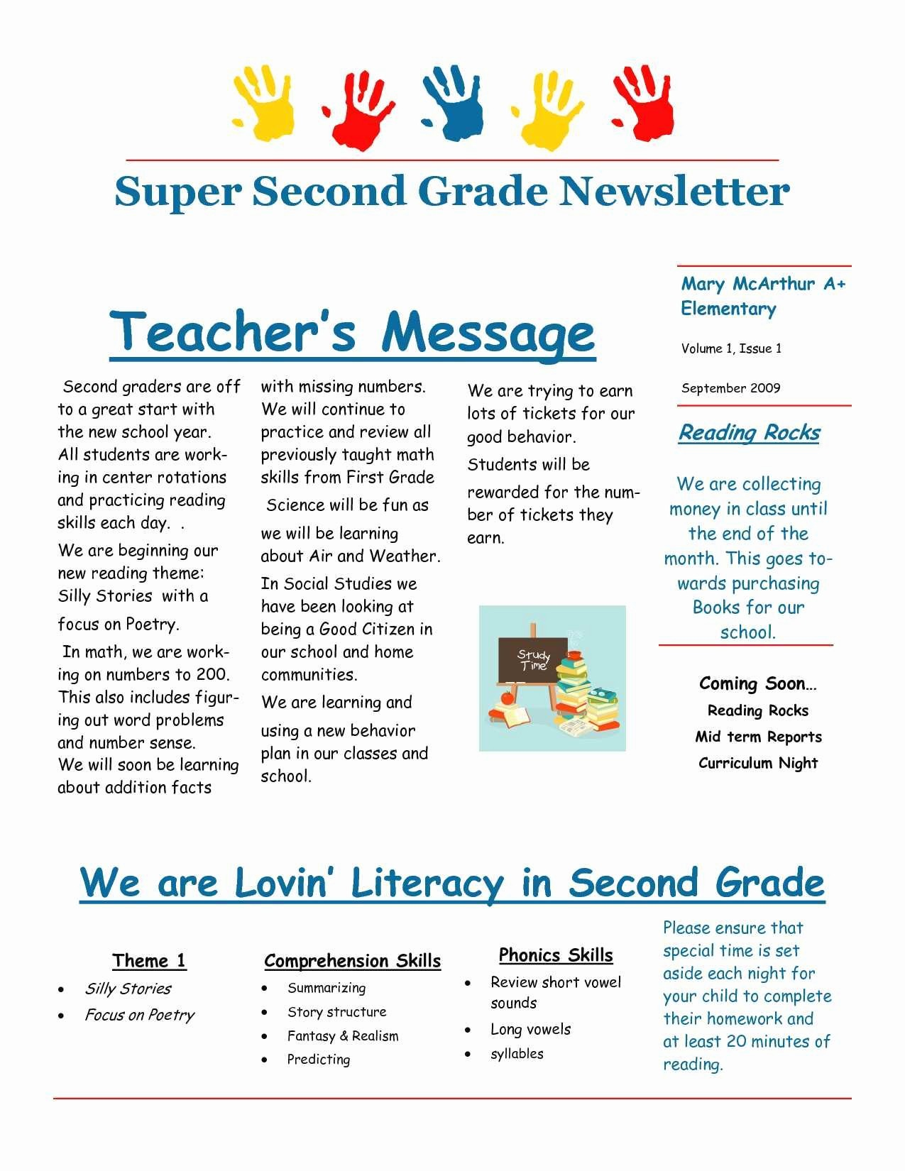 Parent Newsletter Template for Teachers Luxury Awesome Parent Newsletter format
