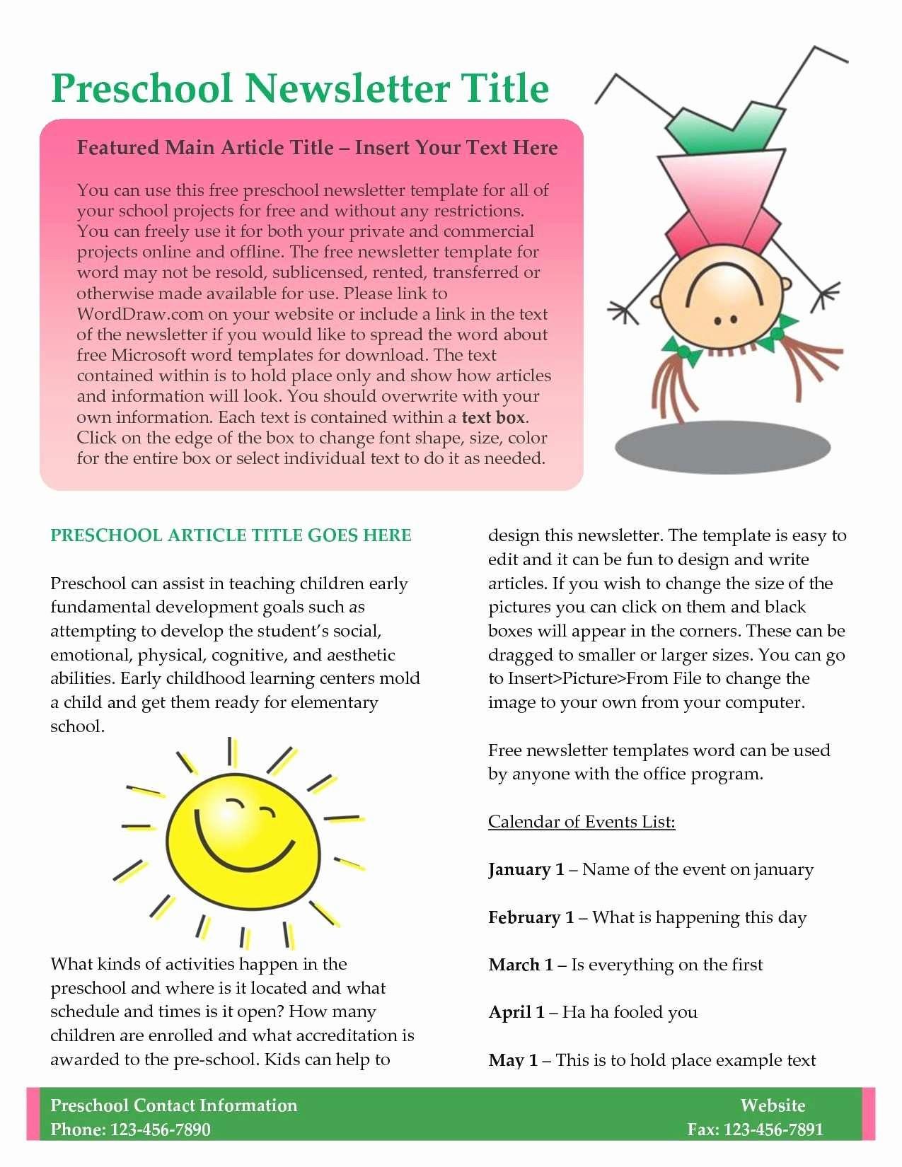 Parent Newsletter Template for Teachers Luxury Elegant Parent Newsletter Template for Teachers