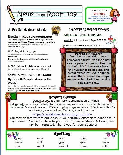 Parent Newsletter Template for Teachers Luxury Free Kindergarten Templates Downloads
