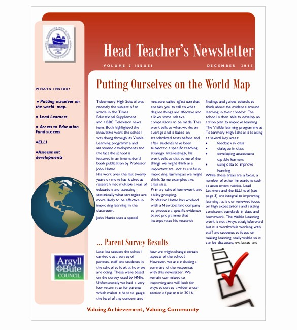 Parent Newsletter Template for Teachers New 9 Teacher Newsletter Templates – Free Sample Example