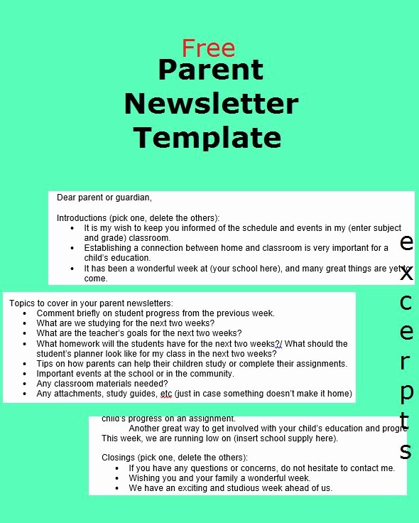 Parent Newsletter Template for Teachers New Best 10 Parent Newsletter Template Ideas On Pinterest