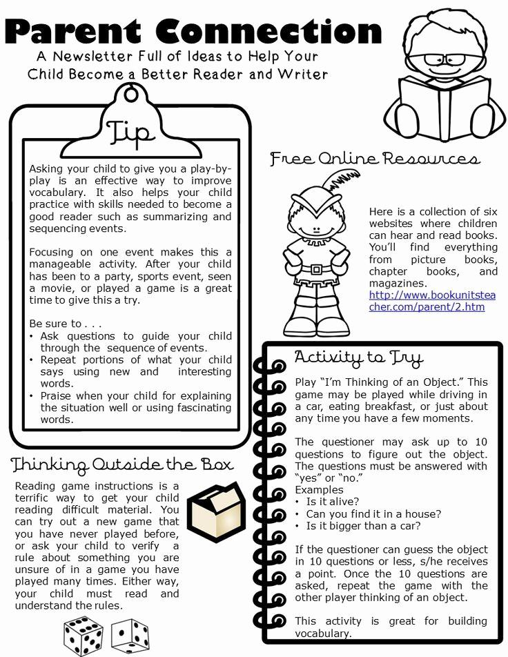 Parent Newsletter Template for Teachers New Best 25 Parent Newsletter Ideas On Pinterest