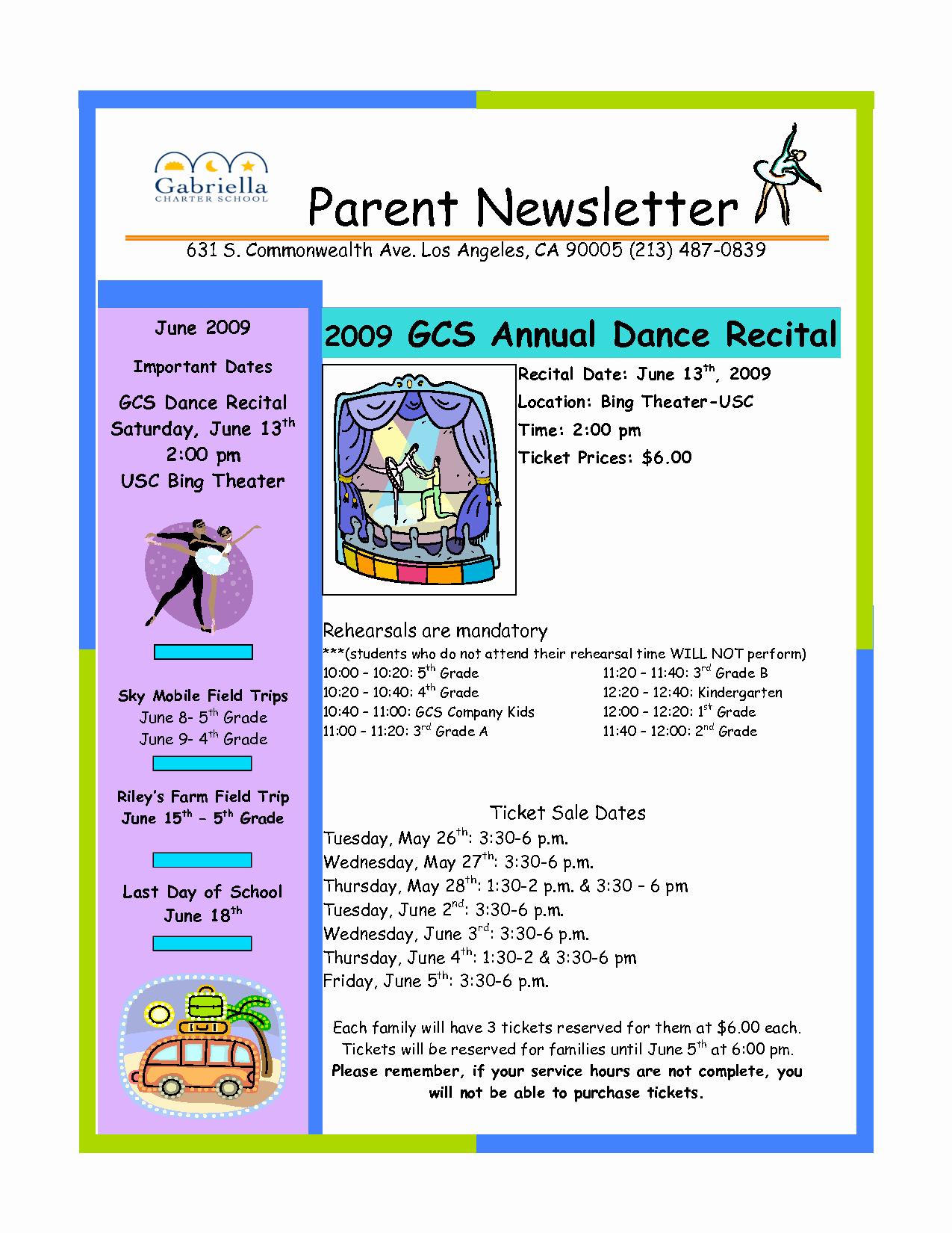 Parent Newsletter Template for Teachers Unique Best S Of Parent Newsletter Template Elementary