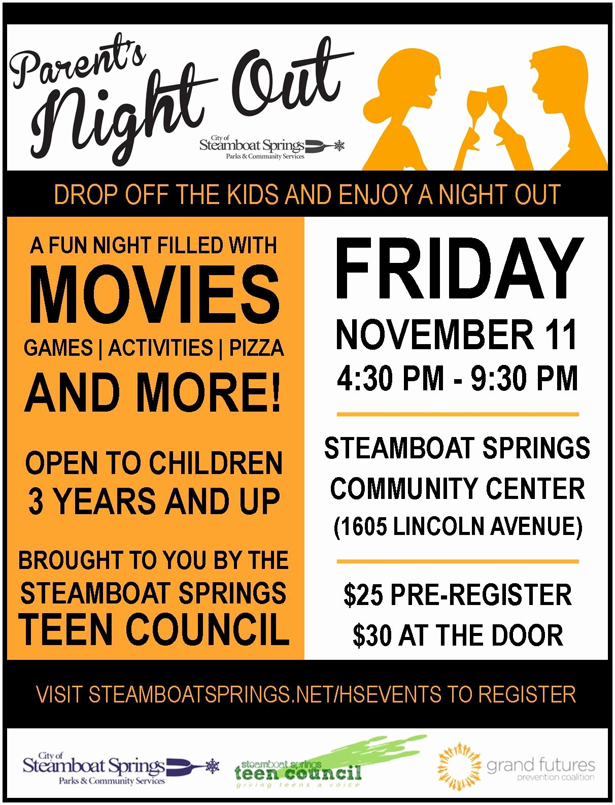 Parent Night Out Flyer Template Awesome Parent Night Flyer to Pin On Pinterest Pinsdaddy