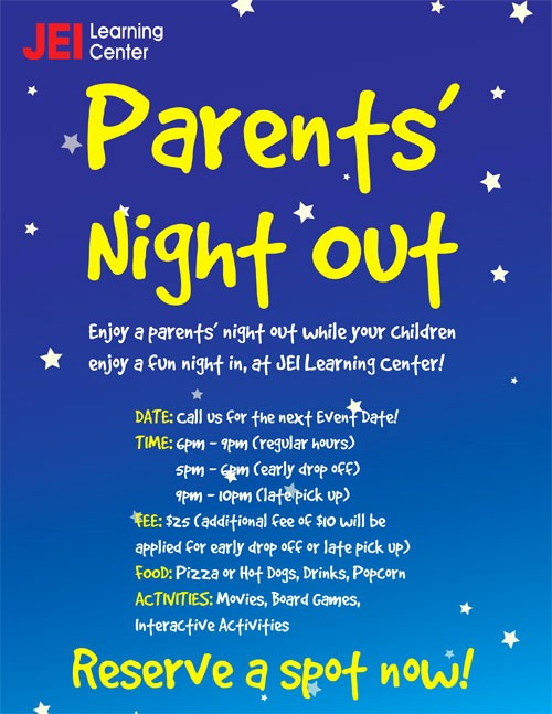 Parent Night Out Flyer Template Beautiful Parent Night Flyer to Pin On Pinterest Pinsdaddy