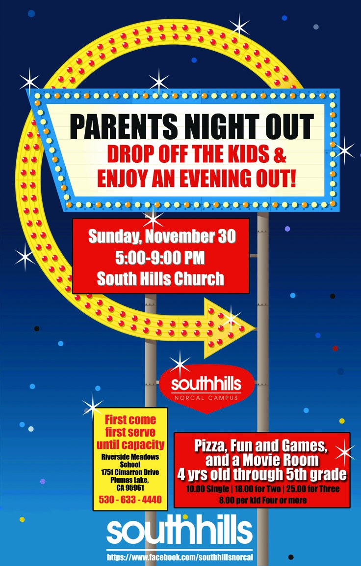 Parent Night Out Flyer Template Beautiful Parents Night Out Colourful Flyer Poster