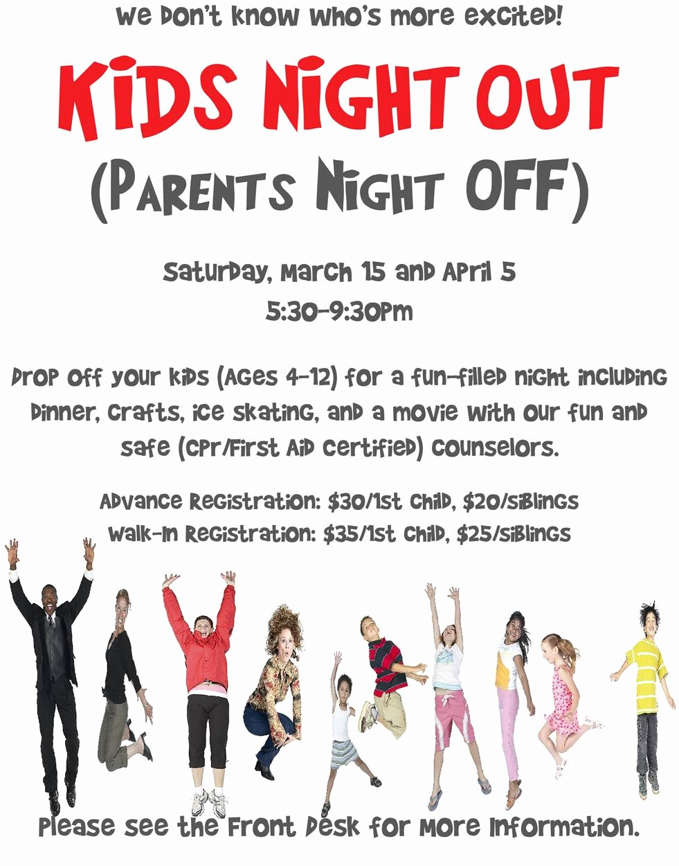 Parent Night Out Flyer Template Best Of Parents Night Out Flyer Template