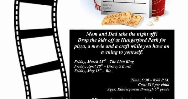 Parent Night Out Flyer Template Elegant Family Movie Night Flyer Template Pto Stuff