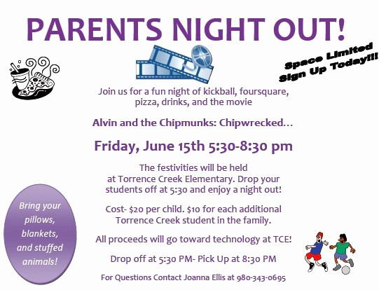 Parent Night Out Flyer Template Elegant Parents Night Out Pdf