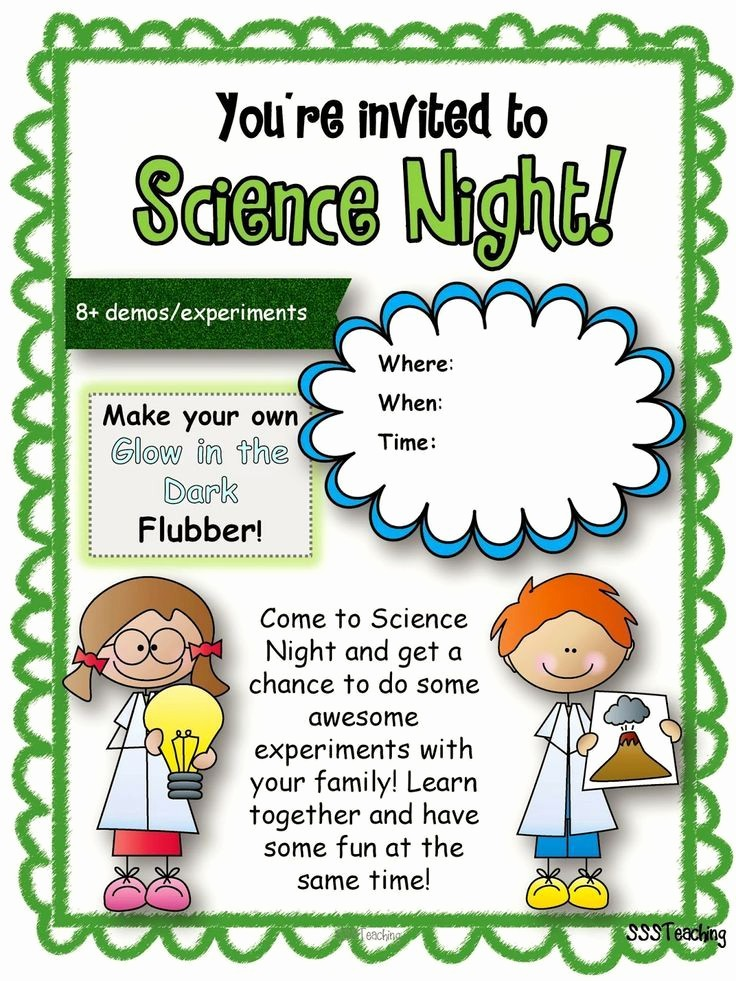 Parent Night Out Flyer Template Fresh Flyer Templates Science Fair Yahoo Image Search Results