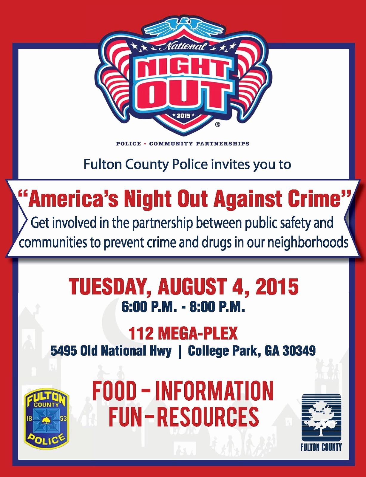 Parent Night Out Flyer Template Inspirational National Night Out Flyers Samples to Pin On