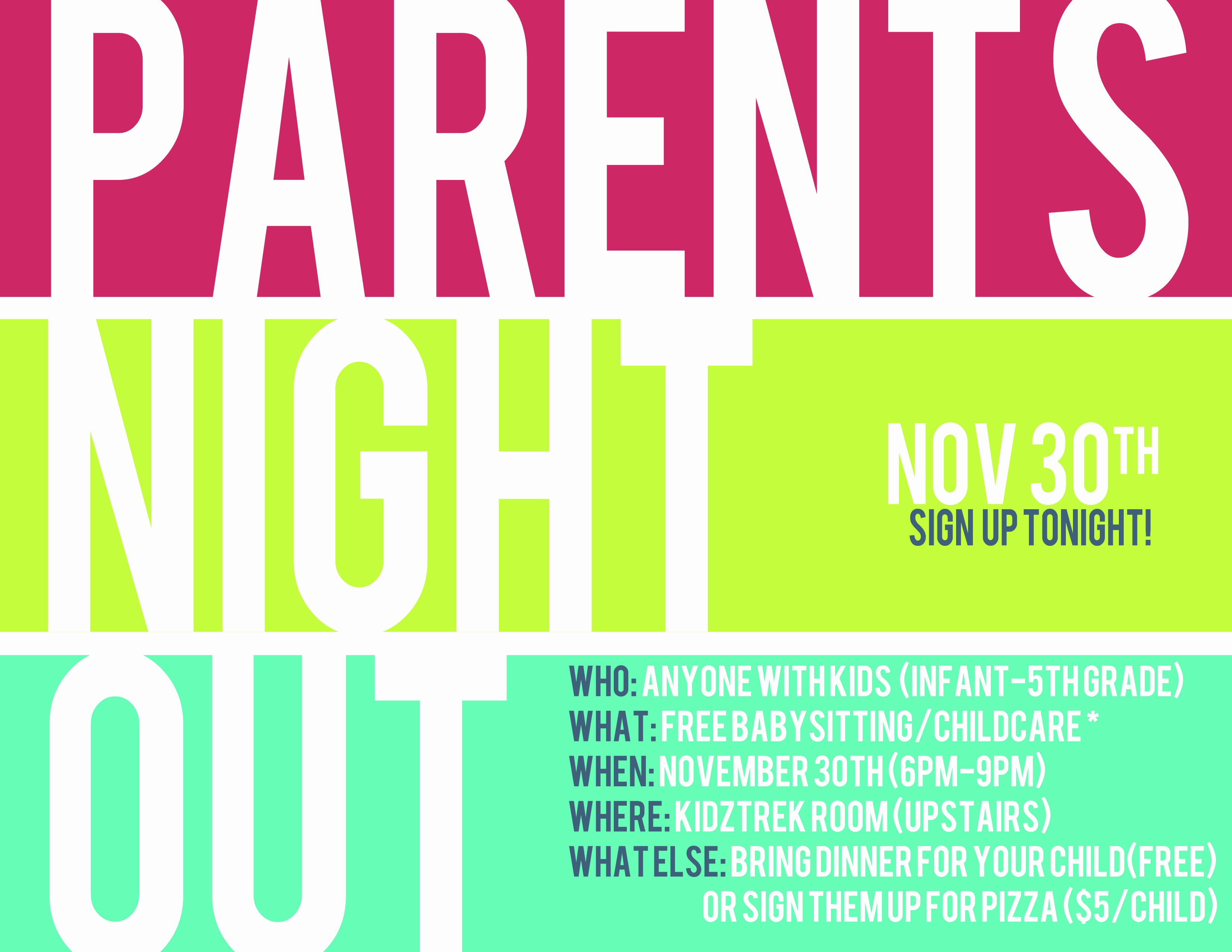 Parent Night Out Flyer Template Inspirational Parents Night Out Google Search