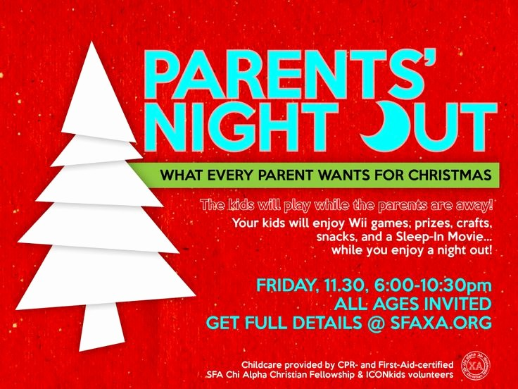 Parent Night Out Flyer Template Luxury 1110 Best Images About Pto Stuff On Pinterest