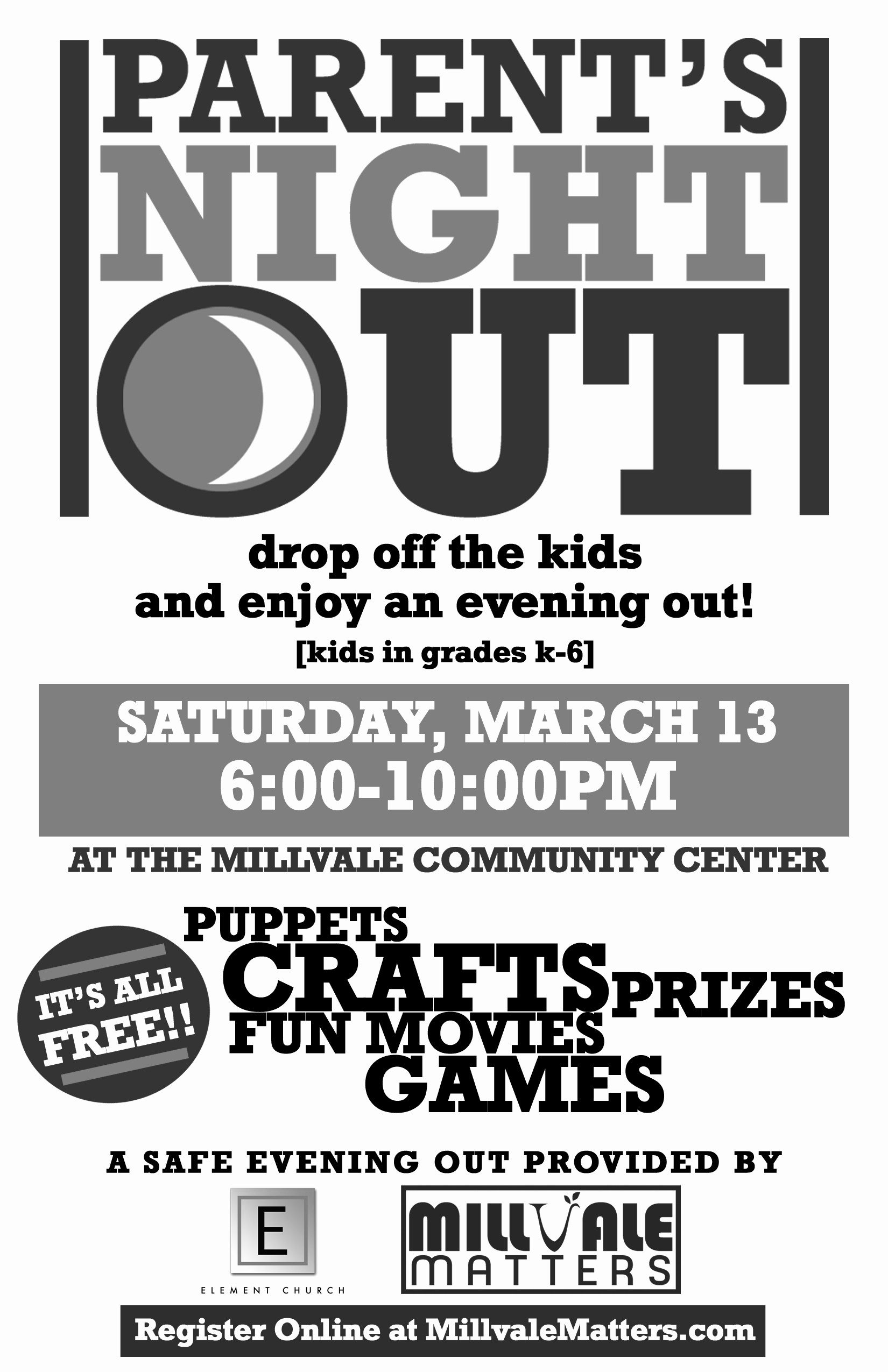 Parent Night Out Flyer Template Unique Millvale Matters Caring for the People Of Millvale