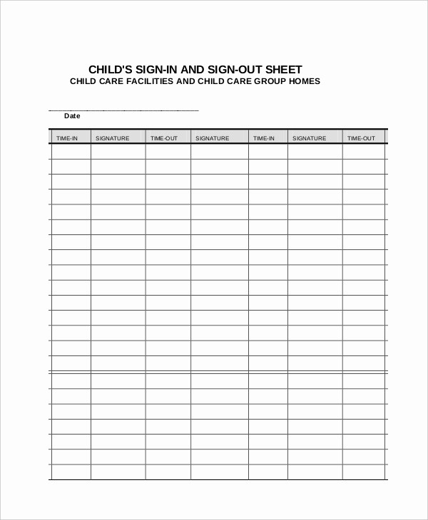 Parent Sign In Sheet Pdf Lovely Sign In Sheet 30 Free Word Excel Pdf Documents