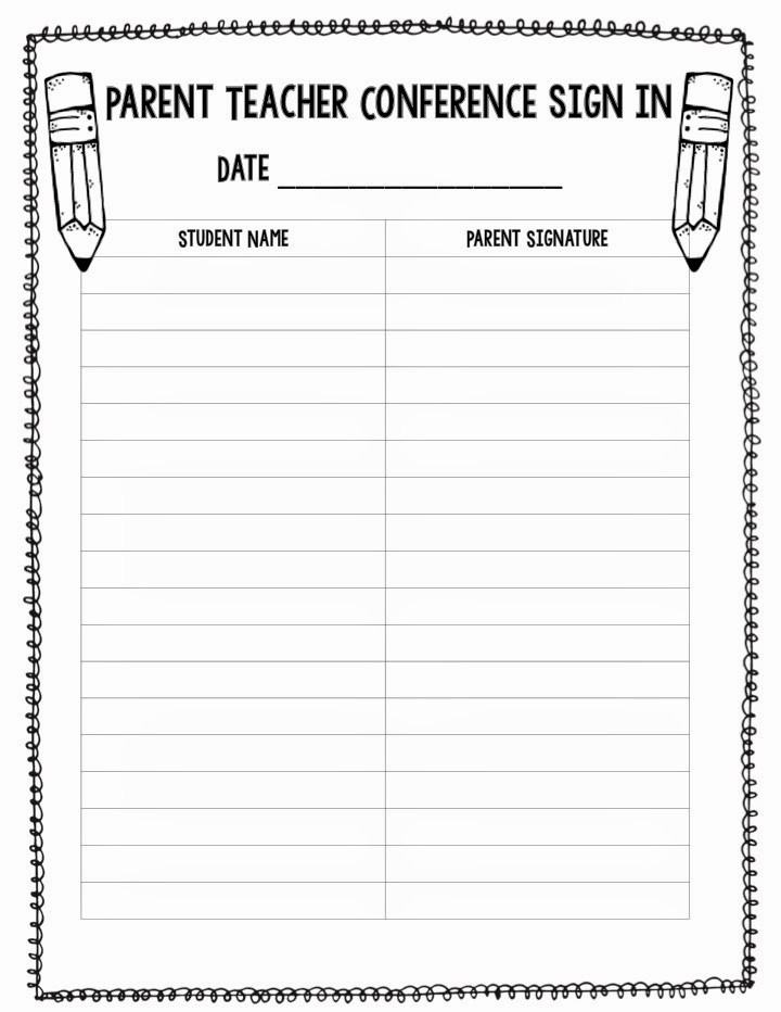 Parent Sign In Sheet Pdf Unique Successful Parent Teacher Conferences