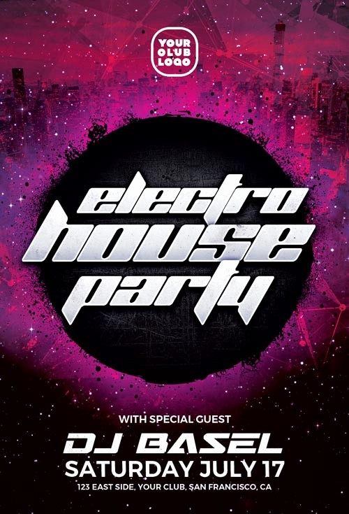 Party Flyer Templates Free Downloads Beautiful Electro House Free Party Flyer Template Download Free