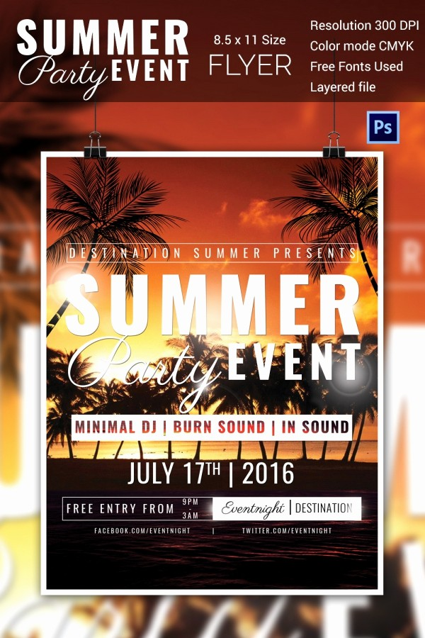 Party Flyer Templates Free Downloads Beautiful Flyers for events Templates Stunning Psd event Flyer