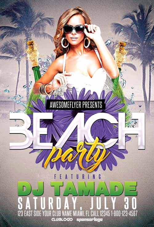 Party Flyer Templates Free Downloads Beautiful Freepsdflyer