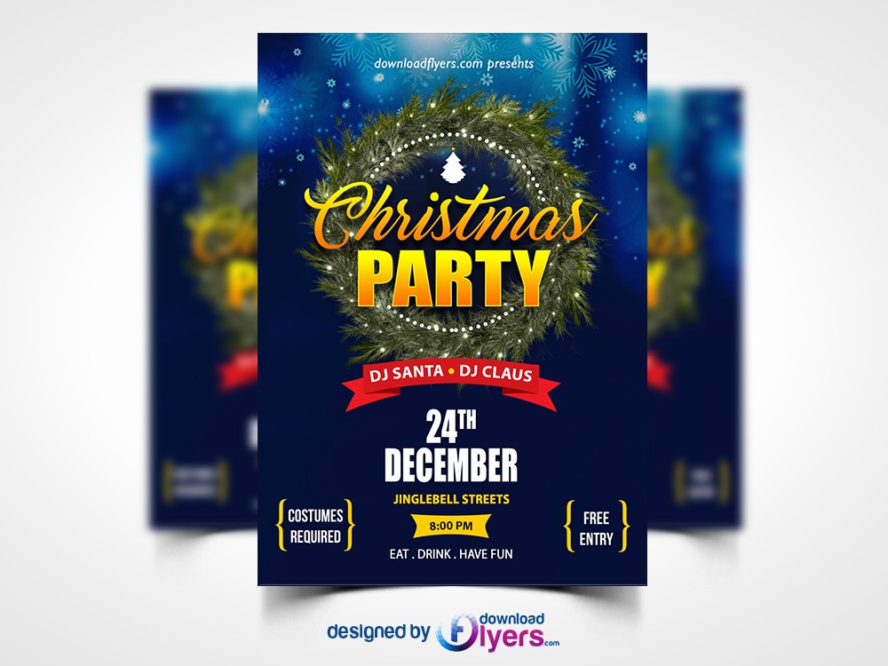 Party Flyer Templates Free Downloads Best Of Christmas Party Flyer Template Free Psd