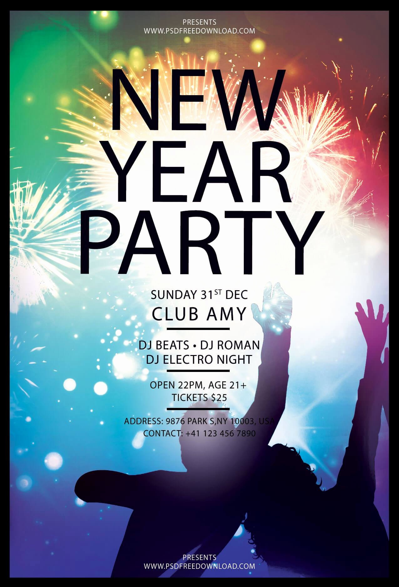 Party Flyer Templates Free Downloads Best Of New Year Party Flyer Free Template Psd