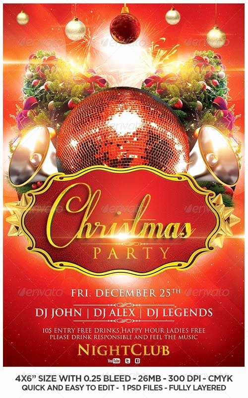 Party Flyer Templates Free Downloads Fresh Christmas Flyers Templates Download – Fun for Christmas