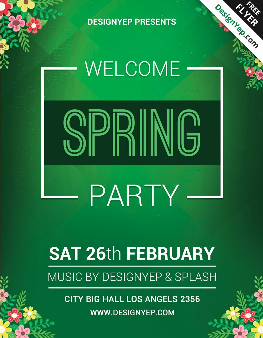 Party Flyer Templates Free Downloads Inspirational 45 Premium & Free Fresh Spring Psd Flyer Templates