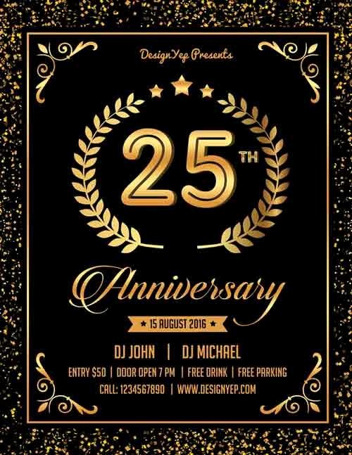 Party Flyer Templates Free Downloads Lovely 13 Elegant & Free Anniversary Flyer Templates