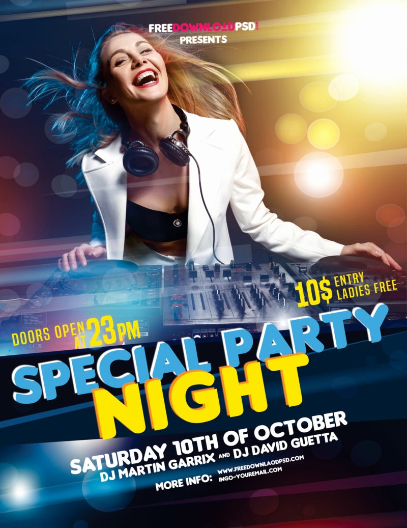Party Flyer Templates Free Downloads Lovely Night Party Flyer Free Download