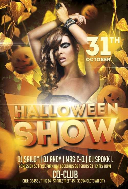 Party Flyer Templates Free Downloads Luxury Download the Free Halloween Show Psd Flyer Template for