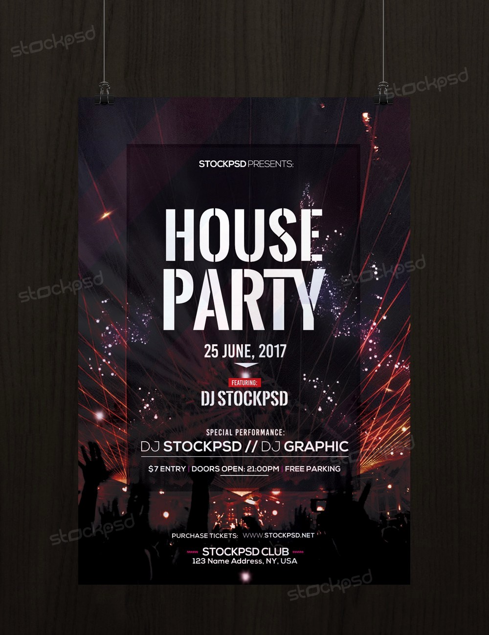 Party Flyer Templates Free Downloads Luxury House Party Download Free Psd Flyer Template