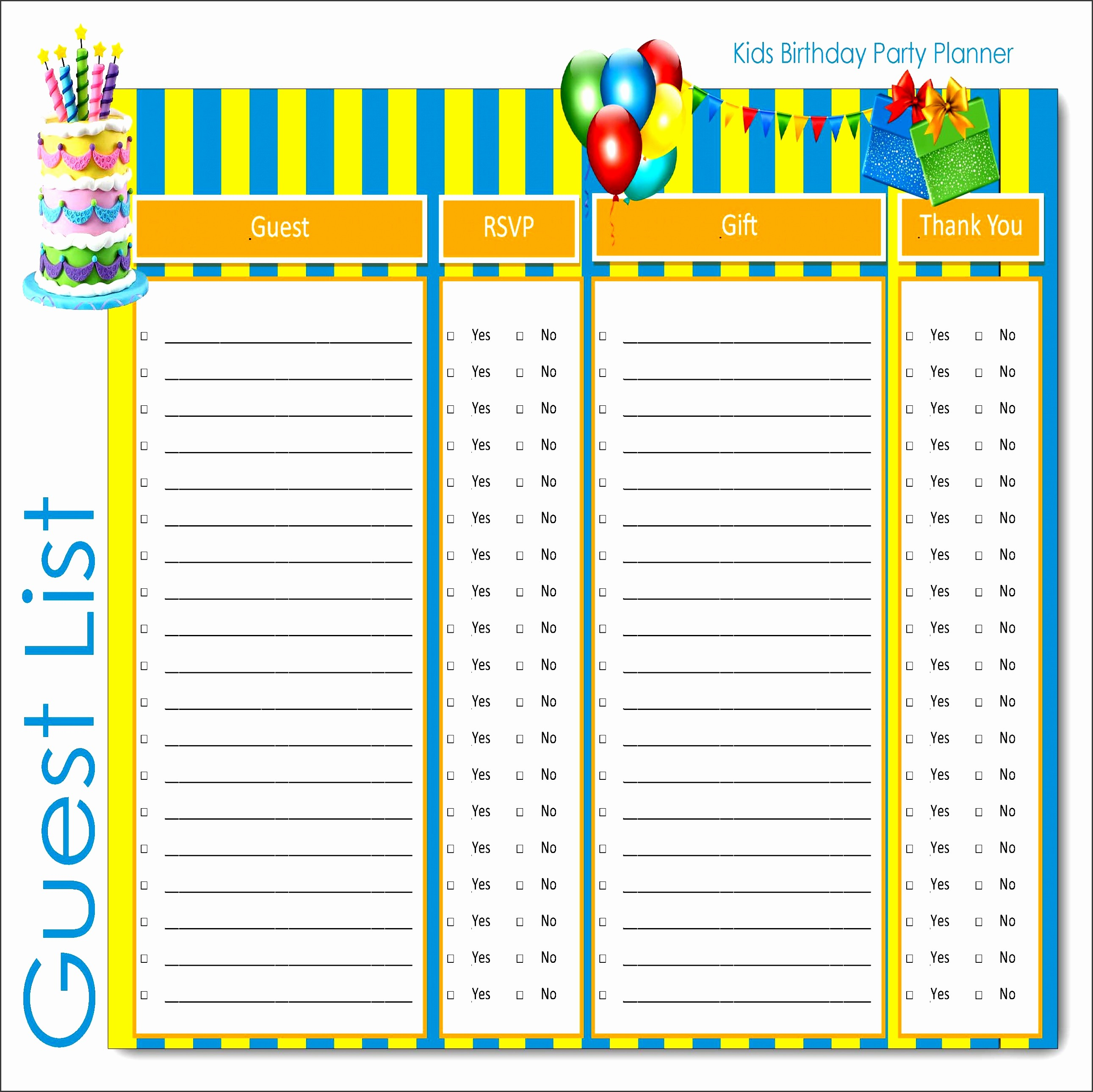 Party Guest List Template Free Elegant 4 How to Make Party Guest List In Ms Word