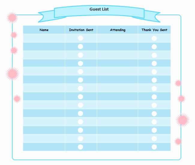 Party Guest List Template Free Lovely Printable Birthday Party Checklist Templates