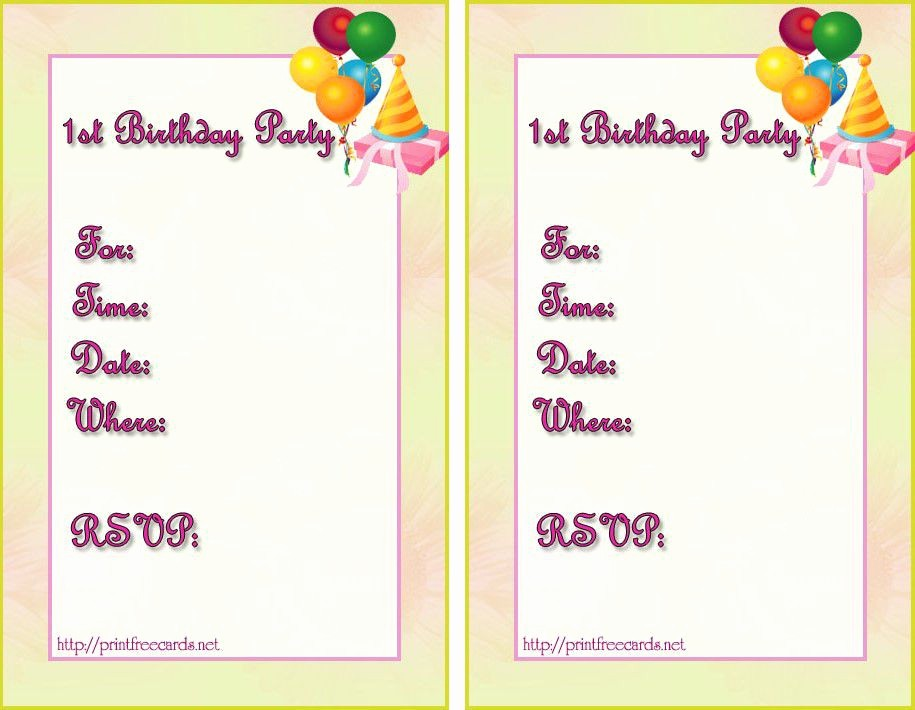 Party Invitation Template Microsoft Word Inspirational Birthday Invitation Templates Birthday Invitation