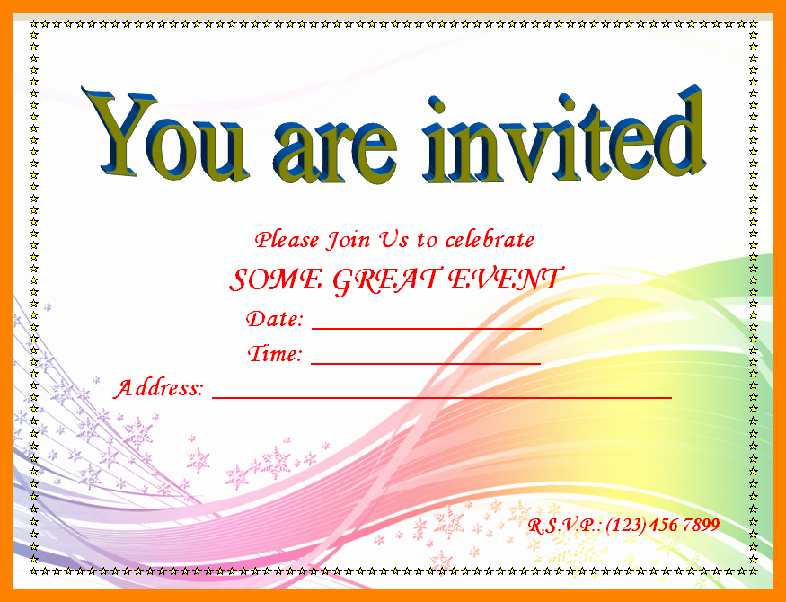 Party Invitation Template Microsoft Word New 15 Birthday Invitation Template Word