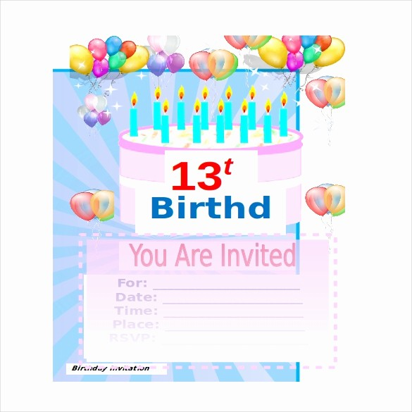 Party Invitation Template Microsoft Word New 18 Ms Word format Birthday Templates Free Download