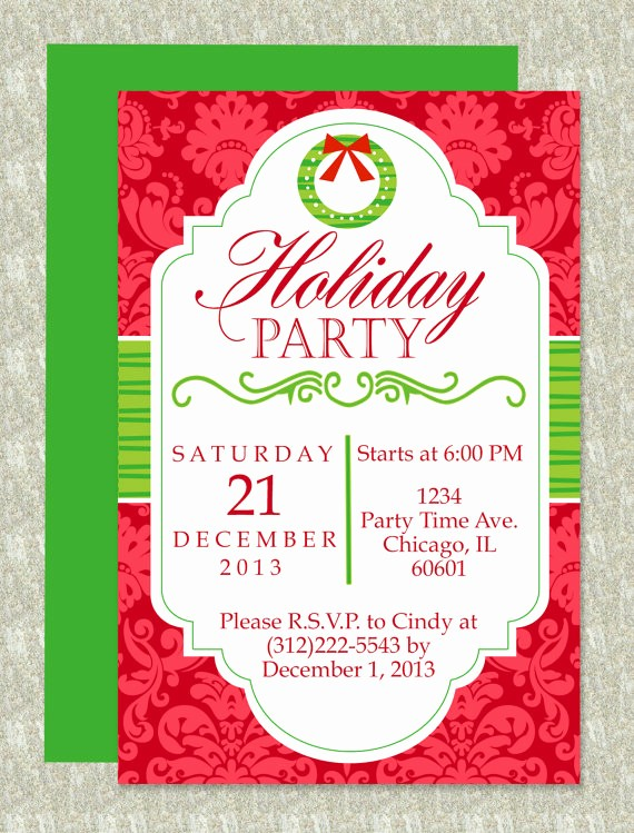Party Invitation Template Microsoft Word New Christmas Party Microsoft Word Invitation Template