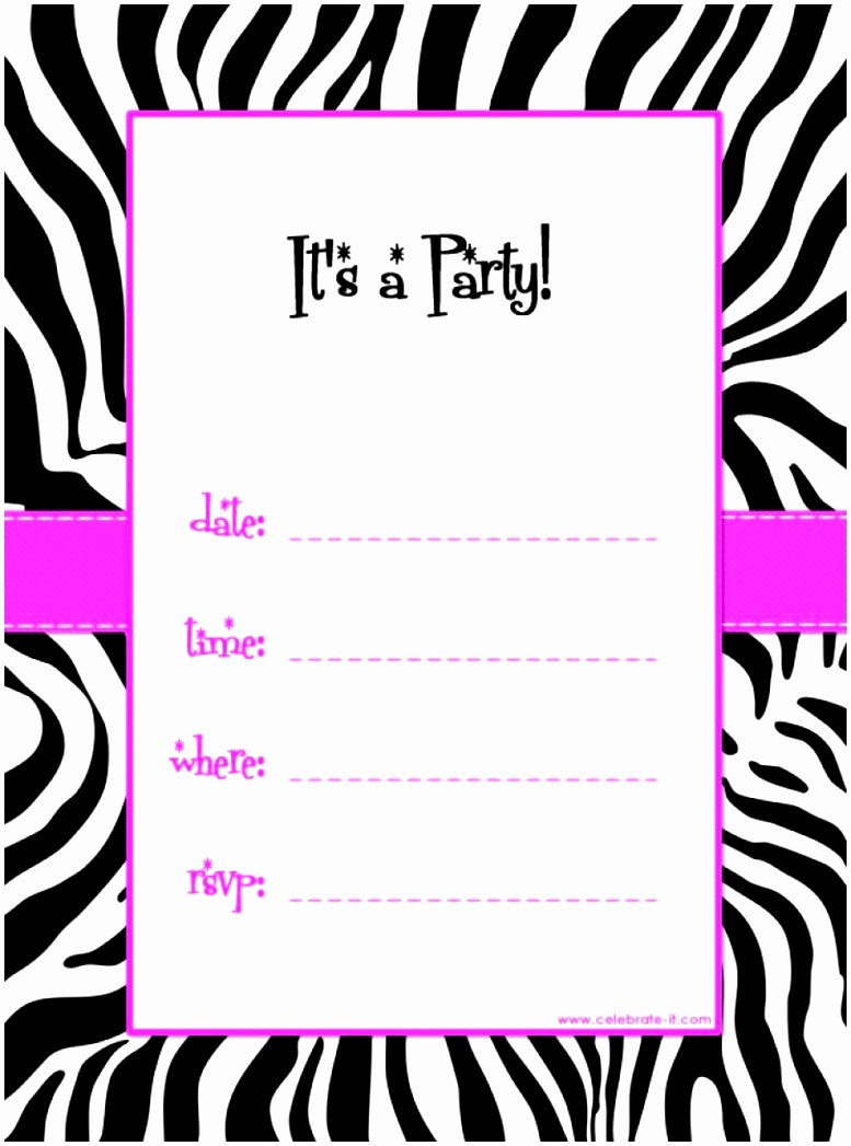 Party Invitation Templates Free Download Awesome 5 Free Party Invitations Templates to Print Auiwu