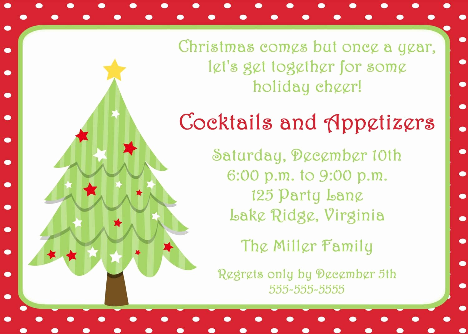 Party Invitation Templates Free Download Awesome Christmas Party Invitation Template