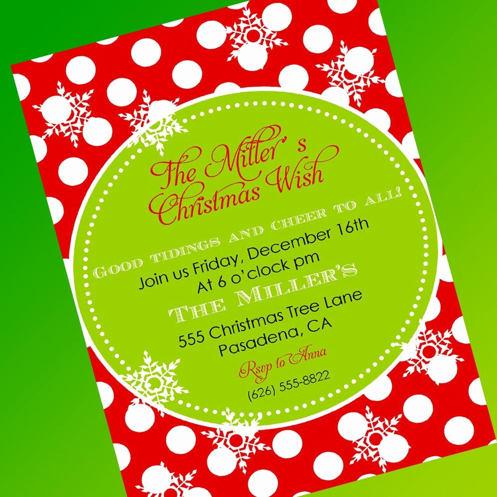 Party Invitation Templates Free Download Awesome Free Christmas Party Invitation Template